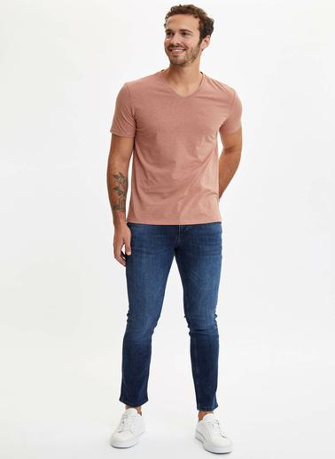 DeFacto Basic Slim Fit T-Shirt Kahve